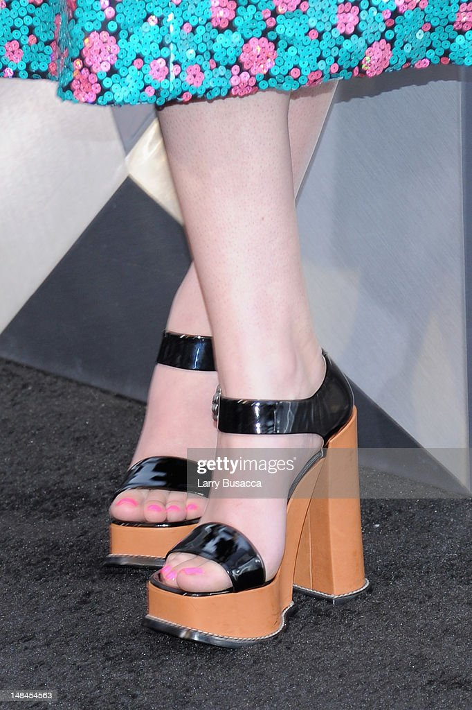 Hailee Steinfeld's shoes at 'The Dark Knight Rises' New York Premiere at AMC Lincoln Square Theater on July 16, 2012 in New York City.