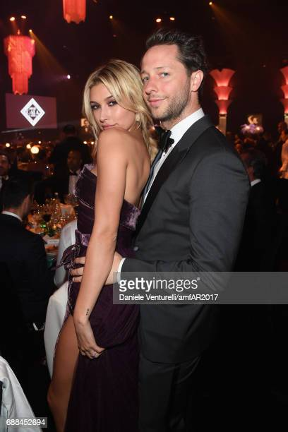Hailey Baldwin and Derek Blasberg attend the amfAR Gala Cannes 2017 at Hotel du CapEdenRoc on May 25 2017 in Cap d'Antibes France