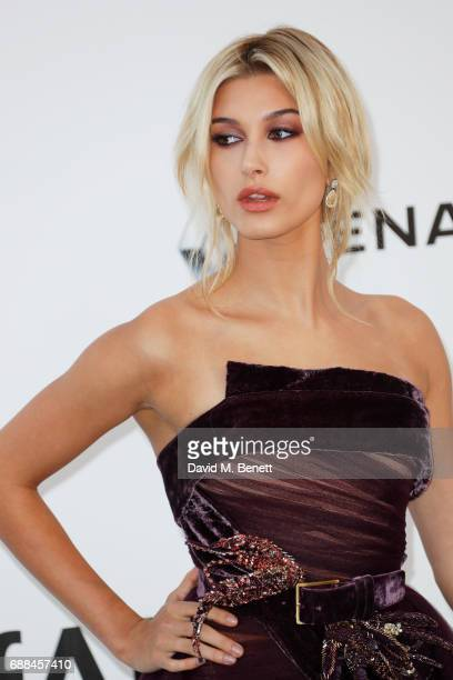 Hailey Baldwin arrives at the amfAR Gala Cannes 2017 at Hotel du CapEdenRoc on May 25 2017 in Cap d'Antibes France