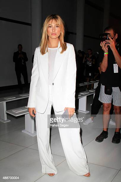 Hailey Baldwin attends DKNY Women's show during Spring 2016 New York Fashion Week on September 16 2015 in New York City