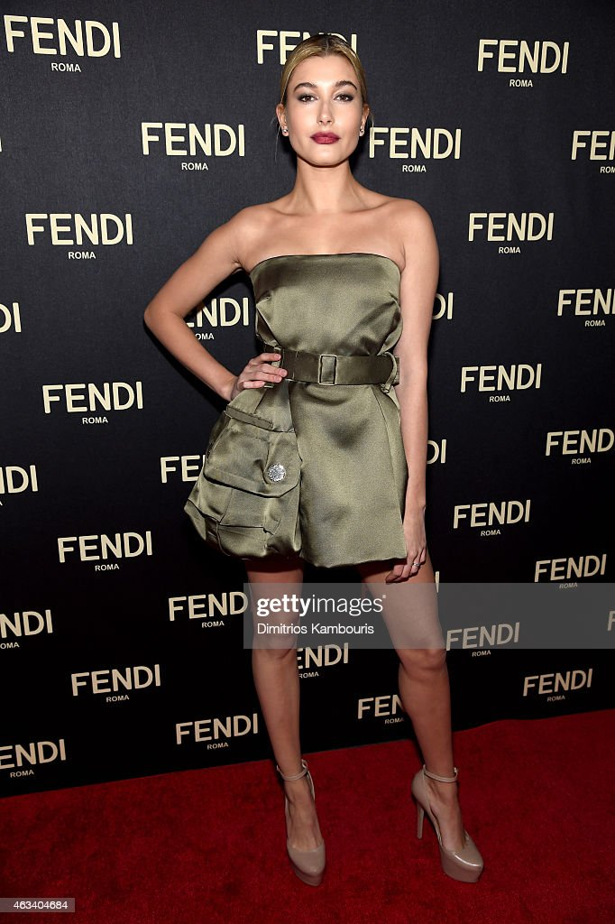 Hailey Baldwin attends FENDI celebrates the opening of the New York flagship store on February 13 2015 in New York City