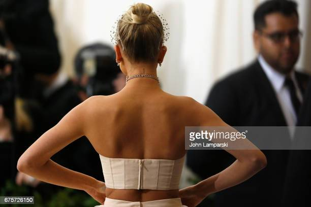 Hailey Baldwin attends 'Rei Kawakubo/Comme des Garcons Art Of The InBetween' Costume Institute Gala O at Metropolitan Museum of Art on May 1 2017 in...