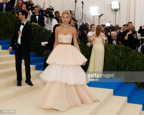 Hailey Baldwin attends 'Rei Kawakubo/Commes Des Garcons Art of the InBetween' the 2017 Costume Institute Benefit at Metropolitan Museum of Art on May...