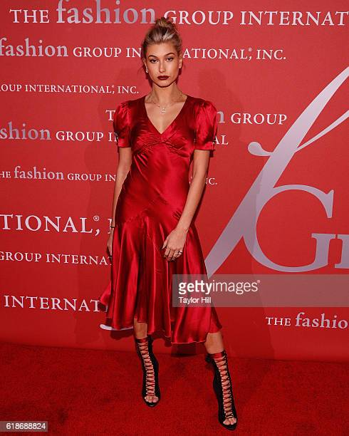 Hailey Baldwin attends the 2016 Fashion Group International Night of Stars at Cipriani Wall Street on October 27 2016 in New York City