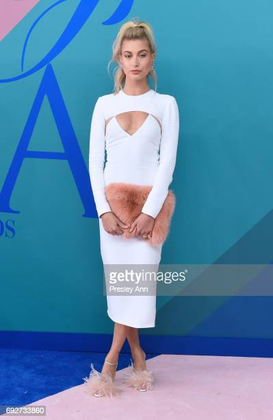 Hailey Baldwin attends the 2017 CFDA Fashion Awards at Hammerstein Ballroom on June 5 2017 in New York City