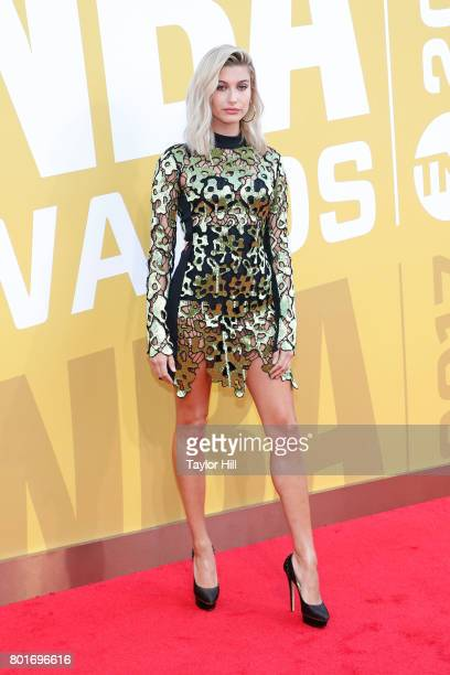 Hailey Baldwin attends the 2017 NBA Awards at Basketball City Pier 36 South Street on June 26 2017 in New York City