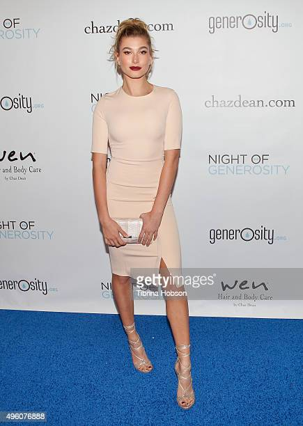 Hailey Baldwin attends the 7th Annual 'Night of Generosity' Gala benefiting generosityorg at the Beverly Wilshire Four Seasons Hotel on November 6...