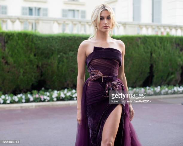 Hailey Baldwin attends the amfAR Gala Cannes 2017 at Hotel du CapEdenRoc on May 25 2017 in Cap d'Antibes France