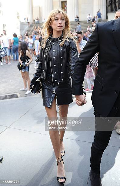 Hailey Baldwin attends the Diesel Black Gold show during New York Fashion Week 2016 on September 15 2015 in New York City