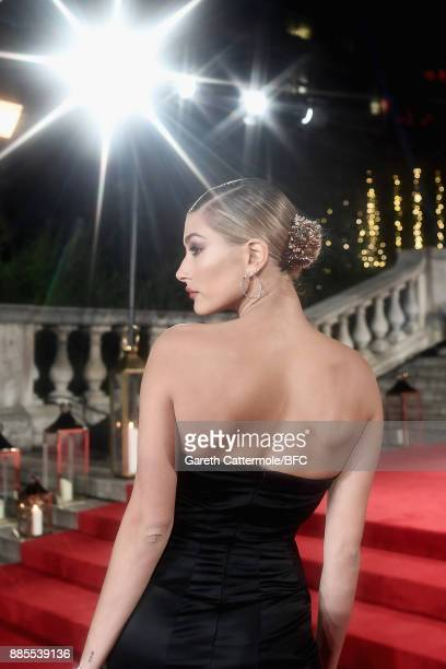 Hailey Baldwin attends The Fashion Awards 2017 in partnership with Swarovski at Royal Albert Hall on December 4 2017 in London England