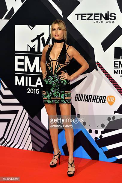 Hailey Baldwin attends the MTV EMA's 2015 at the Mediolanum Forum on October 25 2015 in Milan Italy