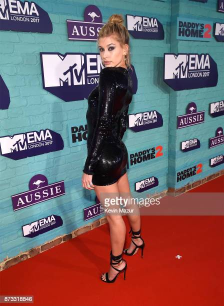 Hailey Baldwin attends the MTV EMAs 2017 held at The SSE Arena Wembley on November 12 2017 in London England