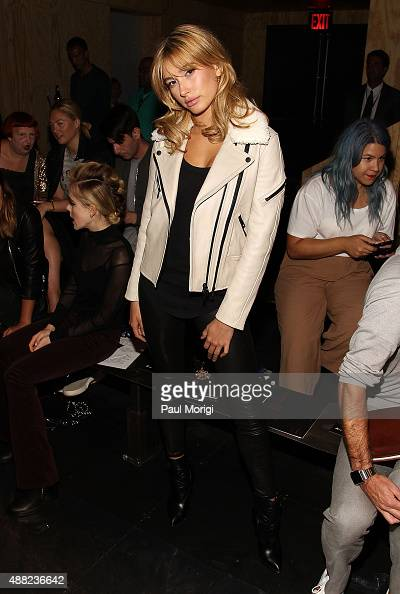 Hailey Baldwin attends the rag bone Spring 2016 fashion show during New York Fashion Week at St Ann's Warehouse on September 14 2015 in New York City