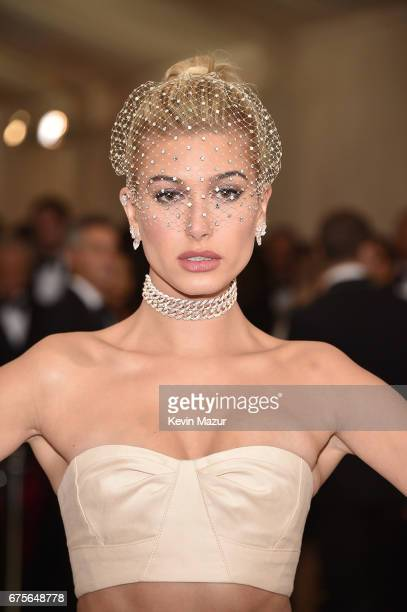 Hailey Baldwin attends the 'Rei Kawakubo/Comme des Garcons Art Of The InBetween' Costume Institute Gala at Metropolitan Museum of Art on May 1 2017...