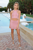Hailey Baldwin attends The REVOLVE Hamptons House on July 25 2015 in Sagaponack New York