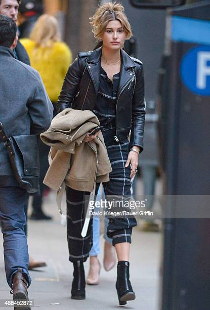Hailey Baldwin is seen on April 02 2015 in New York City