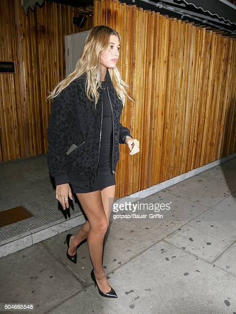 Hailey Baldwin is seen on January 11 2016 in Los Angeles California