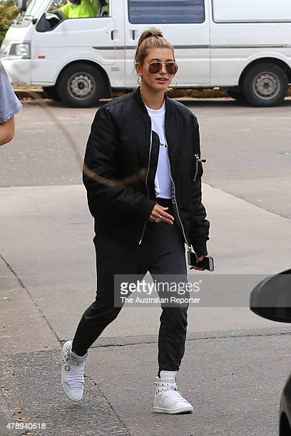 Hailey Baldwin is seen on June 29 2015 in Sydney Australia