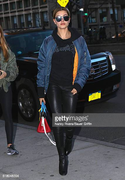 Hailey Baldwin is seen on March 29 2016 in New York City