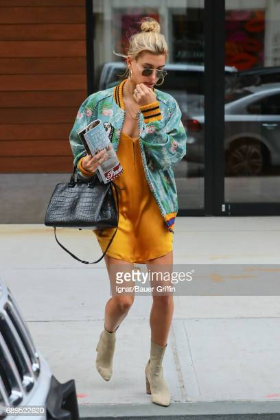 Hailey Baldwin is seen on May 28 2017 in New York City