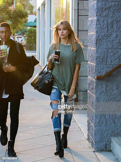 Hailey Baldwin is seen on October 08 2015 in Los Angeles California