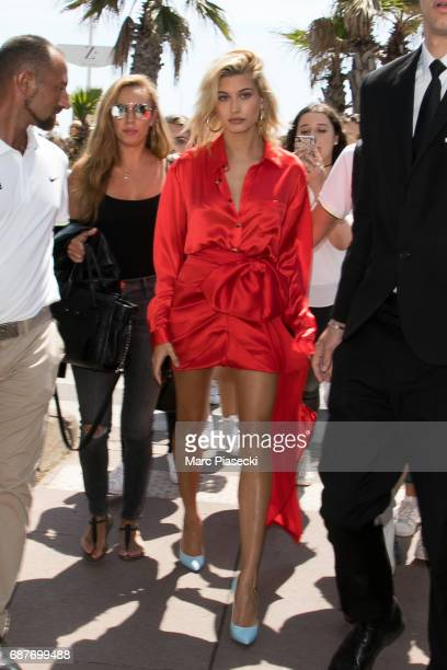 Hailey Baldwin is spotted during the 70th annual Cannes Film Festival at on May 24 2017 in Cannes France