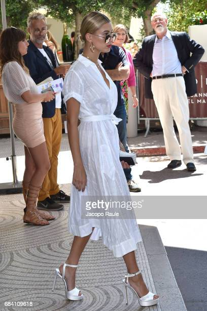 Hailey Baldwin is spotted leaving Hotel Martinez during the 70th annual Cannes Film Festival at on May 17 2017 in Cannes France