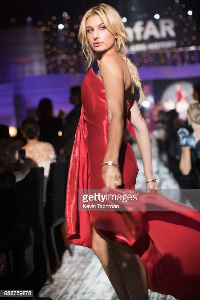 Hailey Baldwin walks the runway at the amfAR Gala Cannes 2017 at Hotel du CapEdenRoc on May 25 2017 in Cap d'Antibes France