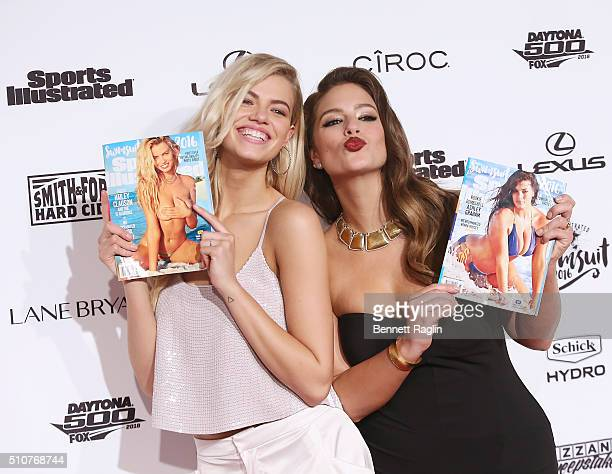 Hailey Clauson and Ashley Graham attend the Sports Illustrated Celebrates Swimsuit 2016 at Brookfield Place on February 16 2016 in New York City