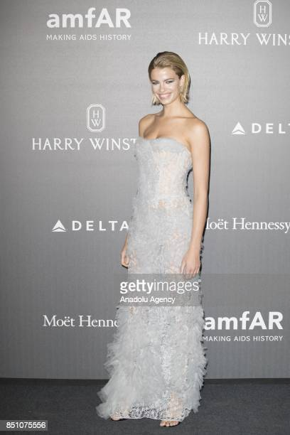 Hailey Clauson attends the red carpet of amfAR Gala Milan at La Permanente in Milano Italy on September 2017