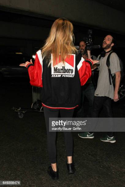 Hailey Clauson is seen at LAX on March 07 2017 in Los Angeles California