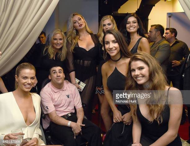 Hailey Clauson MJ Day Hannah McGrady Kate Upton Aly Raisman Anne de Paula and McKenna Berkley attend Sports Illustrated Swimsuit 2017 NYC launch...