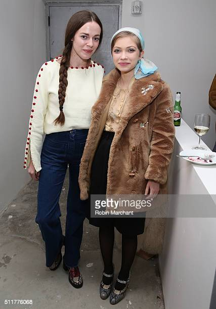 Hailey Gates and Tavi Gevinson attend 'Knight of Cups' New York Screening After Party at Metrograph on February 22 2016 in New York City