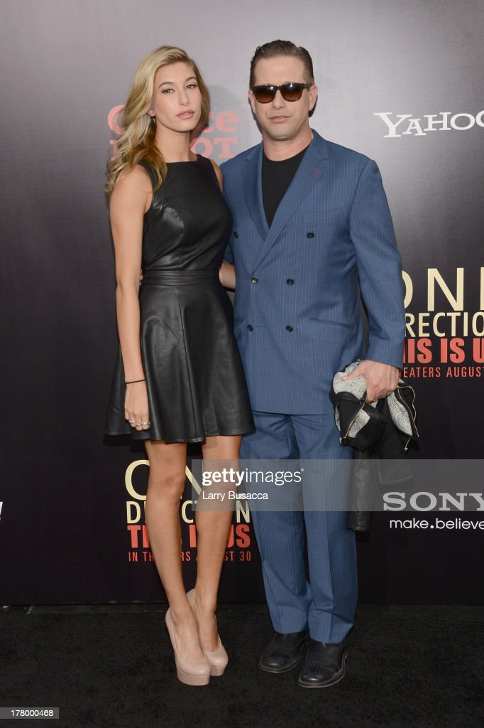 Hailey Rhode Baldwin (L) and <a gi-track='captionPersonalityLinkClicked' href=/galleries/search?phrase=Stephen+Baldwin&family=editorial&specificpeople=213776 ng-click='$event.stopPropagation()'>Stephen Baldwin</a> attend the New York premiere of 'One Direction: This Is Us' at the Ziegfeld Theater on August 26, 2013 in New York City.