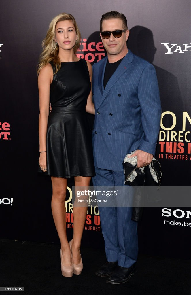 Hailey Rhode Baldwin (L) and <a gi-track='captionPersonalityLinkClicked' href=/galleries/search?phrase=Stephen+Baldwin&family=editorial&specificpeople=213776 ng-click='$event.stopPropagation()'>Stephen Baldwin</a> attend the world premiere of 'One Direction: This Is Us' at the Ziegfeld Theater on August 26, 2013 in New York City.