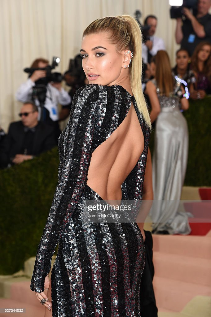 Hailey Rhode Baldwin attends the 'Manus x Machina: Fashion In An Age Of Technology' Costume Institute Gala at Metropolitan Museum of Art on May 2, 2016 in New York City.
