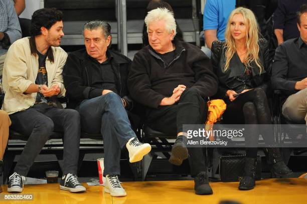 Haim Saban and Avi Lerner attend a basketball game between the Los Angeles Lakers and the Los Angeles Clippers at Staples Center on October 19 2017...