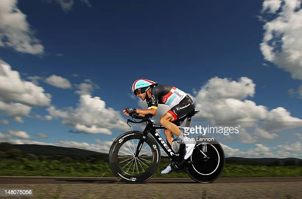 Haimar Zubeldia of Spain and RadioshackNissan in action during stage nine of the 2012 Tour de France a 415km individual time trial from ArcetSenans...