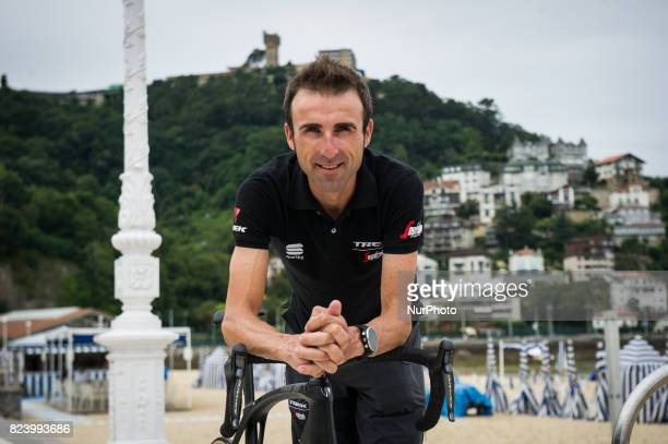 Haimar Zubeldia of Spain and TrekSegafredo In the Ondarreta beach on the eve of the Classic San Sebastian 2017 on July 28 2017 in San Sebastian Spain