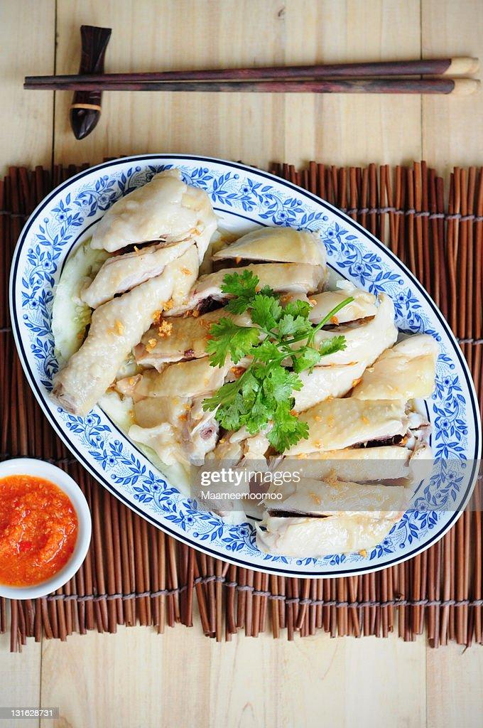 Hainanese Chicken Rice : Stock Photo