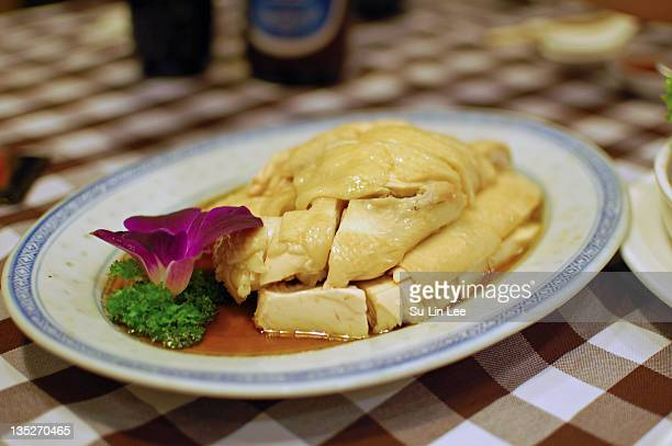 Hainanese poached chicken