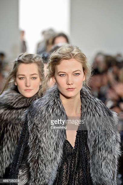 A hair and beauty detail on the runway at the Michael Kors Autumn Winter 2014 fashion show during New York Fashion Week on February 12 2014 in New...
