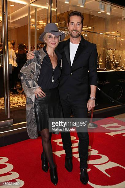 Hair and Make up artist Jörg Oppermann Maja Botic and Guest attend the Thomas Sabo grand flagship store opening on September 24 2015 in Hamburg...