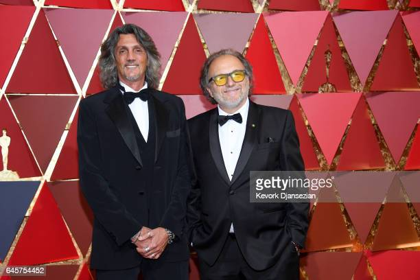 Hair and Make Up Artists Giorgio Gregorini and Alessandro Bertolazzi attend the 89th Annual Academy Awards at Hollywood Highland Center on February...