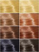 Hair colors set, tints