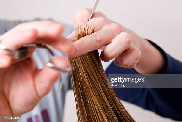 Hair Cutting At Hairdresser