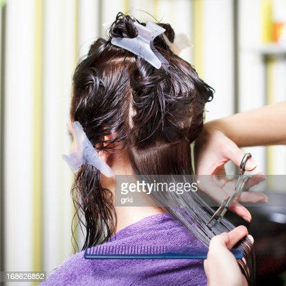 hair cutting stock photo getty images