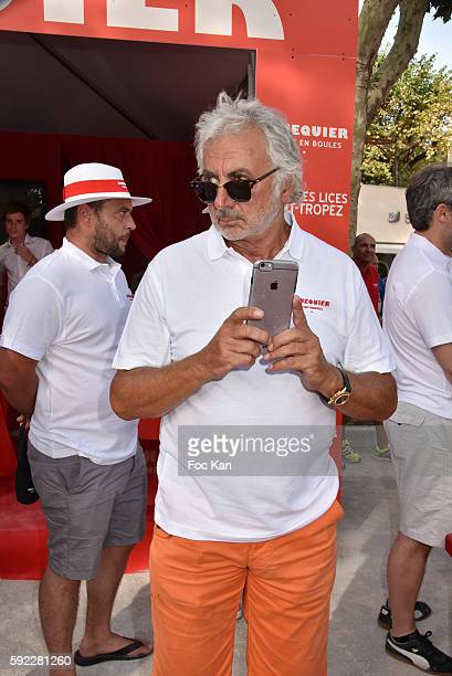 Hair dresser Franck Provost attend theTrophee Senequier At Place des Lices on August 19 2016 in SaintTropez France