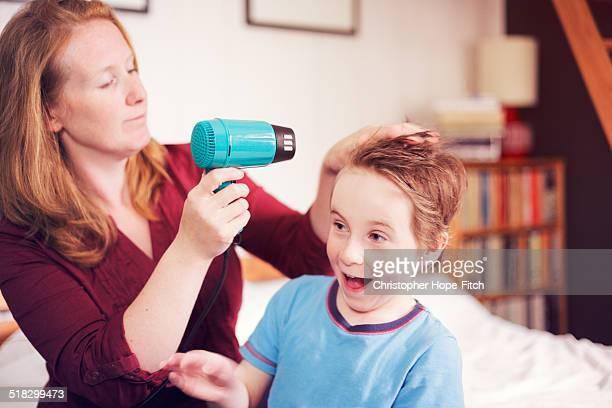 Hair drying fun