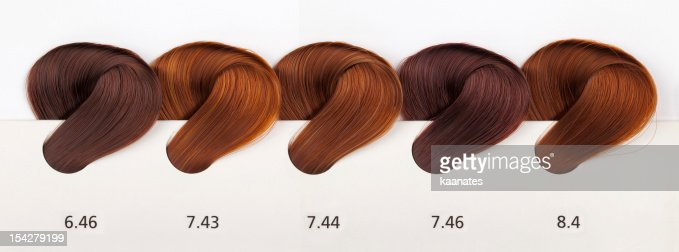 Hair Dye Color Swatches Copper Tones Stock Photo | Getty Images